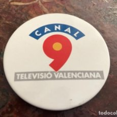 Pins de colección: PRIMERA CHAPA INSIGNIA CANAL 9 TELEVISIÓN VALENCIANA. Lote 146738562