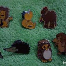 Pins de colección: 7 PIN / PINS - DIBUJOS ANIMADOS - FAUNA / ANIMALES . Lote 147095458