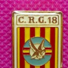 Pins de colección: PIN POLICÍA NACIONAL. COMPAÑÍA DE RESERVA GENERAL. Nº 18 BARCELONA. Lote 147950210