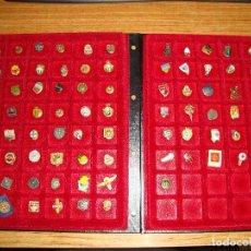 Pins de colección: (TC-170) ANTIGUA COLECCION DE INSIGNIAS PIN SOLAPA 84 UNIDADES TEMATICA MUY INTERESANTE VER FOTOS. Lote 148504070