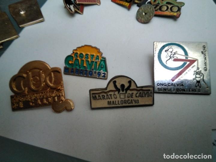 5 PINS SOBRE CALVIÀ (FALTA FOT DEL SALVEM NA BURGUESA) (Coleccionismo - Pins)