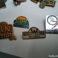 Pins de colección: 5 PINS SOBRE CALVIÀ (FALTA FOT DEL SALVEM NA BURGUESA). Lote 148624738