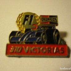 Pins de colección: PIN 310 VICTORIAS F1 FORMULA 1 BUJIAS CHAMPION. Lote 148711994