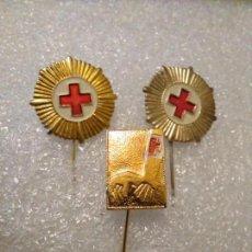Pins de colección: INSIGNIAS CRUZ ROJA ESPAÑOLA LOTE. Lote 149707330