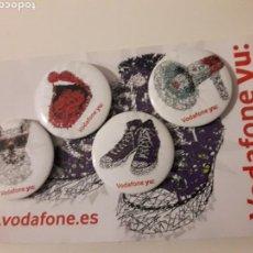 Pins de colección: VODAFONE YU CHAPAS PINS AGUJA. Lote 150020325
