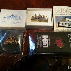 Pins de colección: LOTE 4 PINS - MNAC - ANC - PRIMAVERA FOTOGRAFICA 2000 - CAR 10 ANYS. EN SUS CAJAS. Lote 150646262