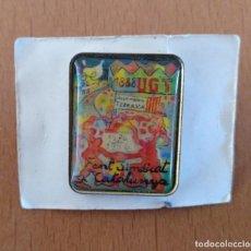 Pins de colección: PIN ESMALTADO FENT SINDICAT CATALUNYA UGT TERRASSA 1976-1996 . Lote 151721722