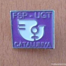 Pins de colección: PIN CUADRADO FSP-UGT CATALUNYA SINDICATOS. Lote 151721902