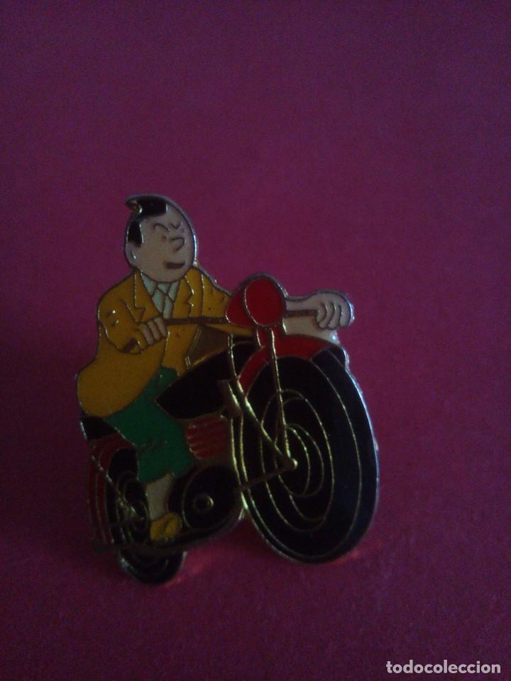 Pins de colección: Pin Tintin - en moto - Foto 3 - 152193358