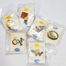 Pins de colección: COLECCIÓN 6 PINS DANONE LA COPA. A ESTRENAR. AÑOS 90. Lote 195431578