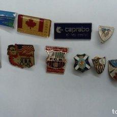 Pins de colección: LOTE DE 12 PINS ALGUNOS DE EQUIPOS DE FÚTBOL . Lote 154695422
