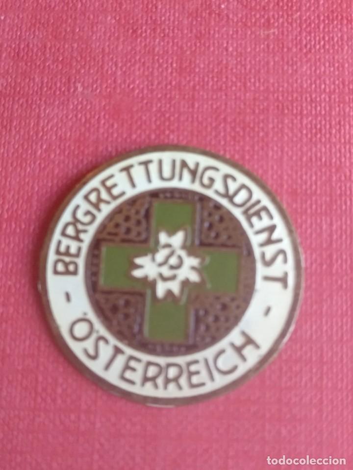 INSIGNIA ANTIGUA DE AUSTRIA RESCATE DE MONTAÑA BERGRETTUNGSDIENST OSTERREICH (Coleccionismo - Pins)