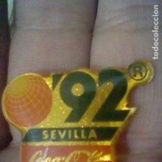Pins de colección: LOGO BOLA MUNDO EXPO 92 SEVILLA COCA COLA PUBLICIDAD GOTA. Lote 156093106