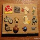 Pins de colección: LOTE DE 12 PINES VINTAGE VARIADOS. Lote 158421606