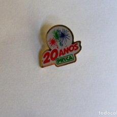 Pins de colección: PIN 20 AÑOS PRYCA. Lote 158749566