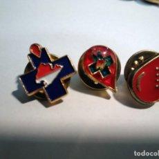 Pins de colección: 3 PINS DONANTES DE SANGRE DE MALLORCA. Lote 158941814