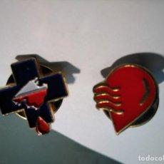 Pins de colección: 2 PINS DONANTES DE SANGRE DE MALLORCA. Lote 158976834