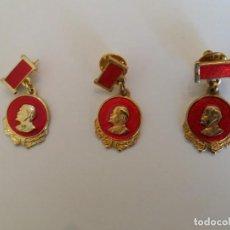 Pins de colección: LOTE 3 PINS LENIN. ESPAÑA. AÑOS 80.. Lote 159517142