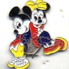 Pins de colección: PIN-MICKEY MOUSE Y MINUIE. Lote 163593498