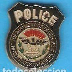 Pin's de collection: 1 PIN /PINS ESMALTADO - POLICÍA - POLICE - DEPARTAMENTO DE DEFENSA ESTADOS UNIDOS DE AMÉRICA. Lote 163959094