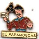 Pins de colección: PIN-EL PAPAMOSCAS-BURGOS. Lote 164982070