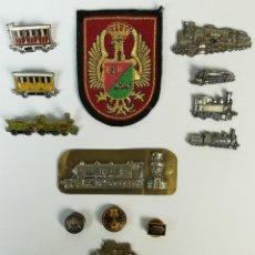 Pins de colección: FERROCARRIL. COLECCIÓN PIN. BOTONES. ESCUDOS. RENFE. VARIOS AÑOS. ESPAÑA. Lote 165632170