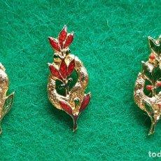 Pins de colección: LOTE 3 INSIGNIAS PIN DE FALLERO FALLA PARADOR EL BUNYOL VALENCIA AÑOS 60. Lote 166723194