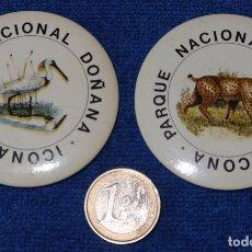 Pins de colección: CHAPAS PARQUE NACIONAL DOÑANA - ICONA. Lote 166792398