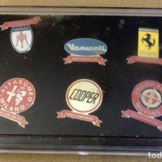 Pins de colección: COLECCIÓN 6 PIN - FERRARI - MASERATI - ALFA ROMEO - VANWALL - COOPER - BRITISH RACING - IMPECABLES. Lote 166978732