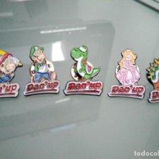 Pins de colección: 5 PINS DAN'UP MARIO BROSS . Lote 167559372