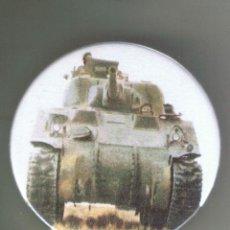 Pins de colección: 1942 M-4 SHERMAN. 4ª ARMORED DIV USA EN TÚNEZ. CHAPA NUEVA DE 57 MM. Lote 167898356