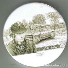 Pins de colección: MICHAEL WITTMANN WAFFEN SS HAUPTSTURMFÜHRER. CHAPA NUEVA DE 57 MM. Lote 167909684