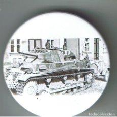 Pins de colección: PANZER II DE 12ª PANZERDIVISION EN RUSIA. CHAPA NUEVA DE 57 MM. Lote 167919172