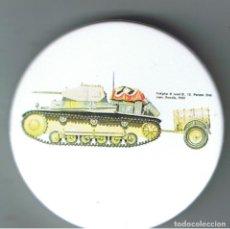 Pins de colección: PANZER II DE 12ª PANZERDIVISION EN RUSIA. CHAPA NUEVA DE 57 MM. Lote 167919400