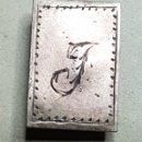 Pins de colección: ANTIGUA INSIGNIA OJAL ORO Y PLATA LETRA J. Lote 168127681