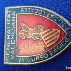 Pins de colección: POLICIA LOCAL DE VALENCIA CURSO BASICO POLICIAS LOCALES. Lote 168672204