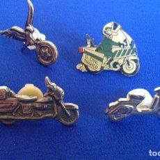 Pins de colección: LOTE DE PINS MOTOS HARLEY DAVIDSON- GUARDIA CIVIL-VESPA. Lote 168750716