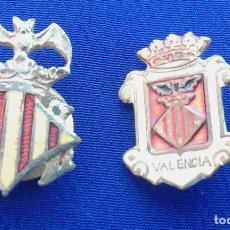 Pins de colección: LOTE INSIGNIAS ESCUDO VALENCIA ANTIGUAS. Lote 169813760