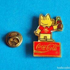 Pins de colección: PINS. COCA COLA CON COBI. OLIMPIADAS DE BARCELONA 92. Lote 169820396