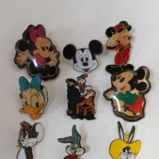 Pins de colección: LOTE 9 PINS ANTIGUOS DISNEY Y WARNER BROS / MICKEY MOUSE. Lote 170391021