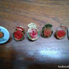 Pins de colección: 4 PINS REAL MALLORCA (TODOS DIFERENTES). Lote 170500056
