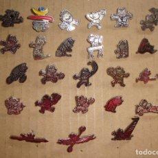 Pins de colección: (TC-211/19) COLECCION LOTE DE 32 PIN PINS TEMA OLIMPIADAS BARCELONA COBI. Lote 171217863