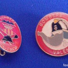 Pins de colección: LOTE PINS BOMBEROS VALENCIA. Lote 171437783