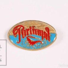 Pins de colección: PIN TURÍSTICO / PUBLICITARIO - RESTAURANTE PORTINYOL, BARCELONA - LANGOSTA - MEDIDAS 24 X 14 MM. Lote 171495468