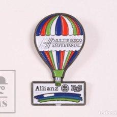 Pins de colección: PIN PUBLICITARIO - SEGUROS ALLIANZ - GLOBO AEROSTÁTICO - MEDIDAS 17 X 30 MM. Lote 171496269