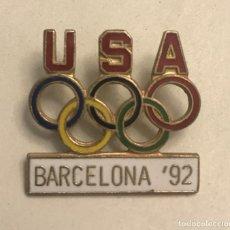 Pins de colección: PIN ESMALTADO EQUIPO OLIMPICO USA BARCELONA 1992. Lote 171519887
