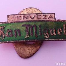 Pins de colección: INSIGNIA OJAL SOLAPA PUBLICIDAD CERVEZA SAN MIGUEL - PIN SAN MIGUEL. Lote 171677782