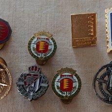 Pins de colección: VALLADOLID, LOTE DE PINS, INSIGNIAS, ALGUNAS RARAS. Lote 171817605