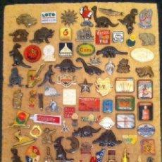 Pins de colección: LOTE DE MAS DE 90 ANTIGUOS PINS VARIADOS. Lote 172202320