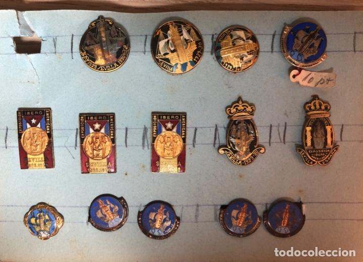 COLECCION PINS, DE LA EXPOSICIÓN IBEROAMERICANA SEVILLA 1928.....1929 (Coleccionismo - Pins)